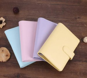 DHL50pcs A5 Empty Notebook Binder 23*18cm Loose Leaf Notebooks without Paper PU Faux Leather Cover File Folder