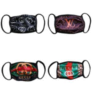 Absatzförderung!! 18colors Mode Gesichtsmaske waschbar atmungs Luxus-Designer-Maske trendy Druck wiederverwendbare winddicht Anti-Staub-cycling Maske