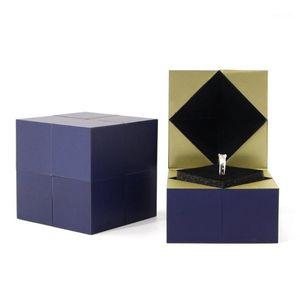 제안 결혼 마법 큐브 반지 상자 결혼 반지 상자 발렌타인 데이 선물 크리 에이 티브 쥬얼리 저장 보석 주최자 1