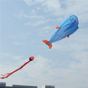 3D دولفين طائرة ورقية ضخمة بارافويل العملاق في الهواء الطلق متعة الرياضة الاطفال الطائرة الورقية الرياضة في الهواء الطلق الدلافين الطائرات الورقية لعب المظلة من السهل أن تطير 1018