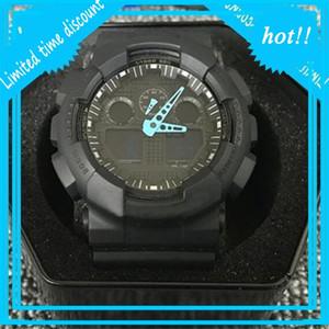 Relojes de moda Hombres Mujeres Deportes Digital LED Diseñador AutoLight Impermeable GA100 Estudiante Marca Militar Reloj militar con caja