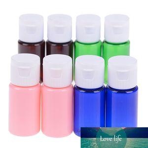 2 pièces de bouteilles PET bouteille en plastique avec Flip Top Cap Bouteille Voyage Portable 4 couleurs au choix 10ml