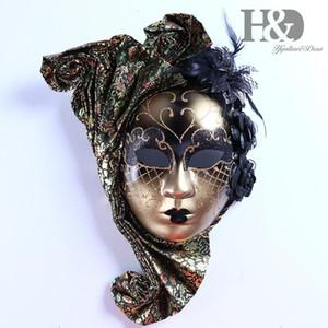 Jester Full HD Venedikli ile Sanat Masquerade SH190922 Çiçek Duvar Gras Mardi Dekoratif Koleksiyonu Yüz Jester Full HD Venedikli W Dpoc Maske