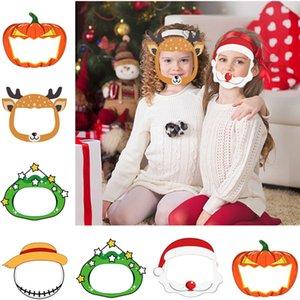 Los niños careta de Halloween máscara transparente máscara de PET transparente reutilizable anti salpicaduras de Navidad Año Nuevo protección de dibujos animados 120pcs T1I2550