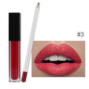 VMAE 2021 NEW Long lasting Liquid Matte Waterproof Lipstick Custom Logo Lipliner Set private label lipstick and lip liner set