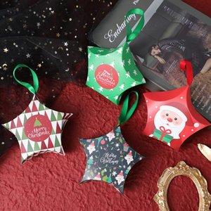 Star Cadeaux Boîtes cadeaux Christmas Creative Cadeaux Boîtes Suspending Rope Sacs Noël Candy Boîte Santa Claus Boîtes De Paper Boîtes Design Fondation HWC4244