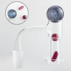 Dos estilos Traje 20 mmod Piso Terp Slurper Fumando Cuarzo Banger con Píldora / Vidrio Mármol Ruby Pearls 4590 Uñas Para Agua Bongs Dab Rigs