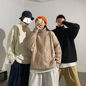 Privathinker Men's Solid Color 2020 Couple Sweater Casual Korean Streetwear Oversize Pullovers Woman Winter Clothing
