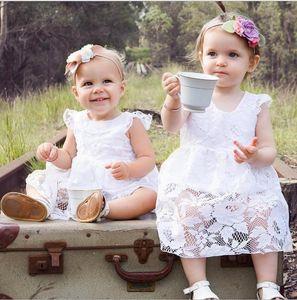 Princess Girl White Lace Romper Dress Newborn Infant Baby Girls Sleeveless Romper Dress Clothes Summer Toddler Girl#lajk