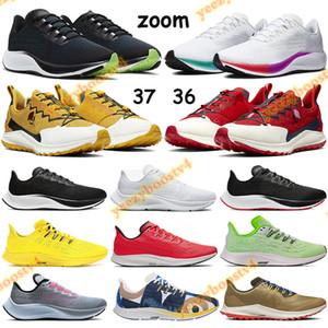 Zoom mosca Pegasus malha 37 36 malha Running Shoes Homens Mulheres Branco Multi-Cor ser verdade 2020 esporte amarelo FM Sneakers mineral Trainers vermelho