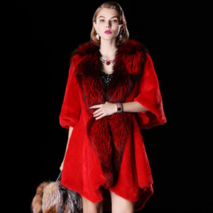 Autumn Fashion Woman New Warm Thicken V-Neck Covered button Pockets Coat Female Real Adjustable Waist Fur coat CY621