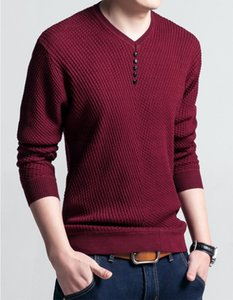 Solid Color Mens Sweater Trendy Casual Winter Wear Autumn Knit Tops Classic High Quality Long Sleeve Men Thick Clothing