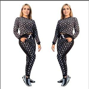 Mulheres Treino spotswear Hoodie calças pedaço set roupas Jogging Sports mangas longas calças de ternos suéter GgYSL