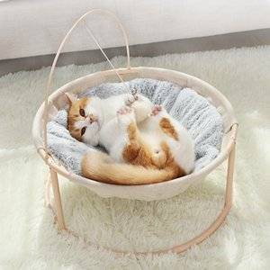 Cat Bed Soft Plush Cat Hammock Detachable Pet Bed with Dangling Ball for Cats Small Dogs Lounger Cute Sleeping House