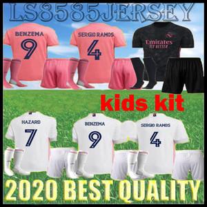 Kids Kit 20/21 Real Madrid Soccer-Jerseys Home Gefahr weiß weg 3. Kind Jugend Modric 2020 2021 Sergio Ramos Herren Kit Home Football Hemden