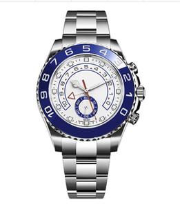 Relojes de diseñador relojes Yacht Master Movement Watches Reloj de acero inoxidable, M116689-0002, Fondo blanco, Dial de acero inoxidable