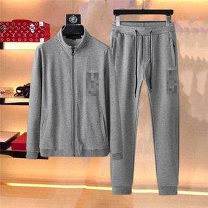 QTT315 Designer men active set tracksuit Sweatshirt +Pant Sport Track suits 2 Pieces jogging sets survetement femme clothes Print