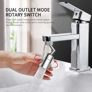 Universal Splash Filter Faucet 720° Rotate Spray Head Anti Splash Filter Faucet Movable Kitchen Tap Water Saving Nozzle Sprayer