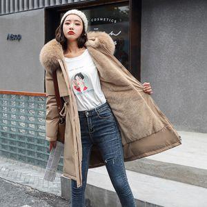 Cotton Parker Parka women coat jacket Fashion Adjustable Waist Fur Collar Winter thick Jacket Women Hooded Parkas Coat 2021 201214