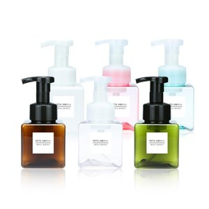 250ml Clear Foaming Bottle foaming soap dispenser pump Soap Mousses Liquid Dispenser Shampoo Lotion Shower Gel Foam Bottles