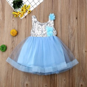 2019 Summer Girls Robe De Mariage Anniversaire Tutu Robe Pour Filles Sundress Princesse Sequins Robe Tulle Jllqwu