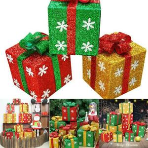 Xmas Christmas Gift Boxes Christmas Snowflake Glitter Boxes Party DIY