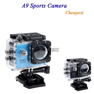 Hot Cheapest A9 1080P Full HD Action Digital Sport Camera 2 Inch Screen Waterproof DV Recording Mini Sking Bicycle Photo Video Camera