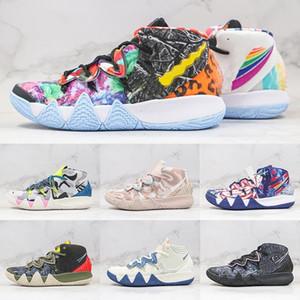 Kybrid S2 EP Des Boşucular Kyrie Neon Camo Erkek Basketbol Ayakkabıları Çöl Camo Sashiko Paketi Erkekler Spor Trainer Sneakers Boyutu 7-12