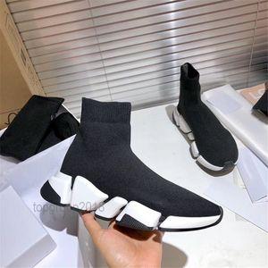 الرجال والنساء الاحذية سوك SPEED حذاء 2.0 الرياضة محبوك تمتد احذية سرعة المدرب SCARPE Chaussures سباق ترقية الأسود أوريو مع صندوق