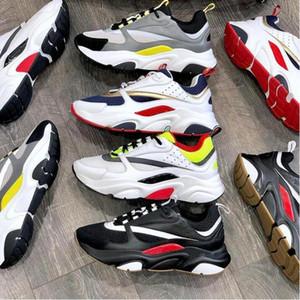 Designer B22 Sneakers Sneakers in pelle di vitello in pelle bianca Top Technical Knit Donna Piattaforma Sneakers Blu Grey Trainer con scatola