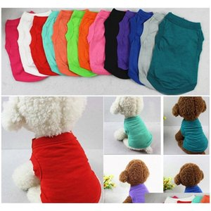 Pet T Shirts Summer Solid Dog Clothes Fashion Top Shirts Vest Cotton Clothes Dog Puppy Small Dog Clothes Cheap Pet Apparel Yd0312 Bk0Wk