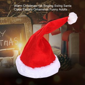 Decoration Funny Adults Gift Music Party Props Kids Singing Swing Ornaments Santa Claus Electric Toys Warm Christmas Hat Soft