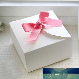 White Lace modello Scatola di cartone, regalo caramelle matrimonio, favore di partito torta 50pcs / lot