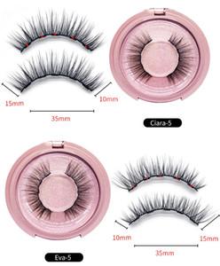 Pas de cils magnétiques de colle de longue durée réutilisable Eyelash confortable Eye-liner magnétique confortable Five Pièce maquillage Makep Mink Cils