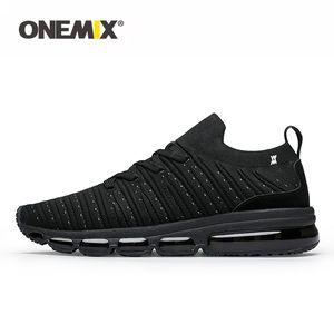 ONEMIX Men Running Shoes Jogging Footwear Knitted Summer Breathable Sneakers Walking Outdoor Sport Shoes Women Slip-On Sock Shoe 201017