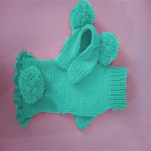 Tricoter chapeaux pull canimle chien mignon garder chaud pommeau de vêtements accessoires de bonnet de bonnet de bonnet de bonnet fourmel Vente chaude 30 Par k2