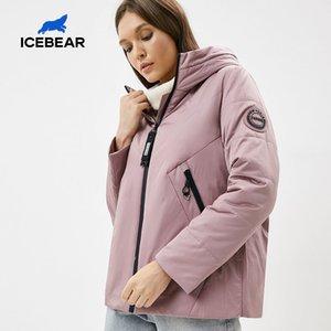 İcebear Yeni Kadın Ceket Kadınlar Bahar Coat Moda Günlük Kadın Giyim Marka Praka GWC20061I 201015