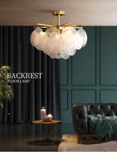 nordic Style Light Luxurious Originality Restaurant Lamp Bedroom Full Copper Glass Wind Chime A Chandelier