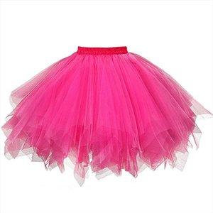 Tulle Skirts Women Pleated Gauze Mesh Short Skirt Teen Adult Summer Party Dancing Tutu Skirt Ball Gown Jupe Saias Faldas