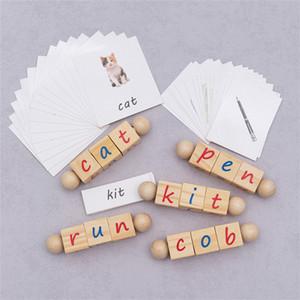 Cube Bausteine Schreibweise Wörter Englisch Lernspielkarten kognitives Lernen Alphabet Rubiks Würfel Kinder-Bildungs-Intelligenz