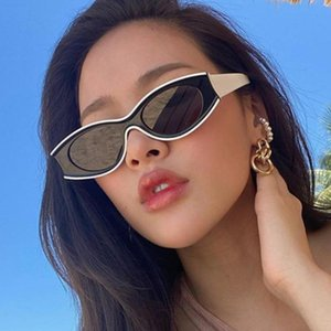 European and American oval sunglasses 2020 fashion European and American catwalk trend personality sunglasses retro