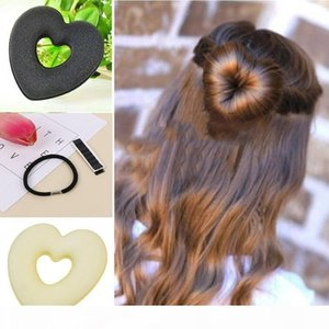 1 Pcs Fashion Portable Women's Hair Holder Hair Disk Curler New Heart Shaped Hair Accessories Styling Tools