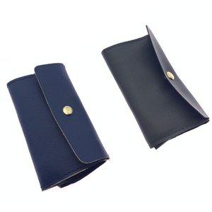 Storage Bag Mask Bags Masks Case Face Holder Leather Sheath Women Men Wallet Fashion Card Rectangle Business Dustproof Cleaning 3 5zl F2