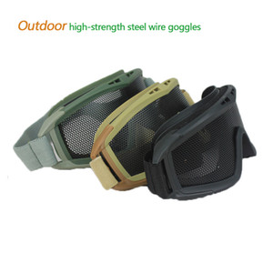 Outdoor Goggles High-strength Impact Resistance Survival Shooting Glasses Rock Climbing Mountaineering Field CS Goggles