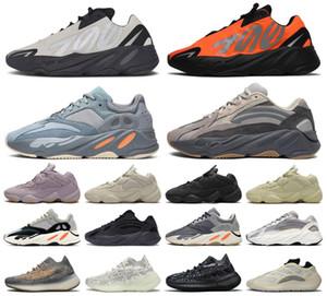 2020 estilista naranja onda alienígena kanye imán para mujer para hombre negro oeste reflectante hueso 700 zapatillas de correr 500 zapatillas de deporte corredor