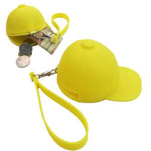 Mignon monnaie sac à dos de bande dessinée couleur portefeuille portefeuille bouchon de baseball sac monnaie mini chapeau clé silicone changement femme sac cca3126