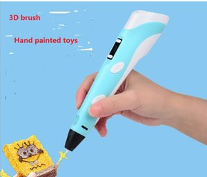 2021 hot sale 3D printing pen 3D painting graffiti brush DIY handmade children's educational toys Writing Supplies 5V USB Russian version