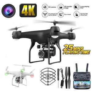 RC Drone UAV Hava Fotoğrafçılık Ile 4 K HD Piksel Kamera Uzaktan Kumanda 4-Axis Quadcopter Uçak Uzun Ömür Uçan Oyuncaklar Jimitu 201105