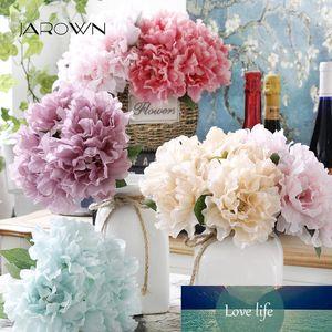 JAROWN Artificial 5 Head Peony Bouquet Simulation Silk Fake Flower for Wedding Decorative Flores Home Office Decor