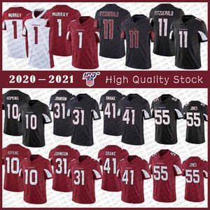1 Kyler Murray Arizona del jersey del fútbol cardenal 11 Larry Fitzgerald 31 David Johnson Peterson 21 23 jerseys Adrian Peterson 40 Pat Tillman